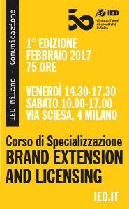 Brand Extension and Licensing: nuovo corso con IED